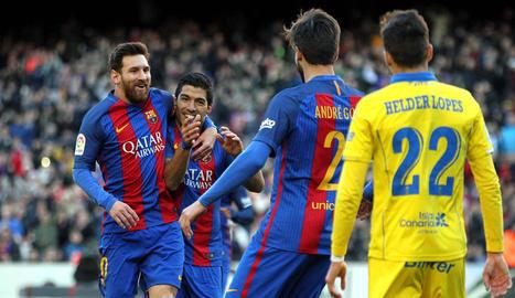 Messi va veure porta davant del Las Palmas, l'equip 35 a què marca.