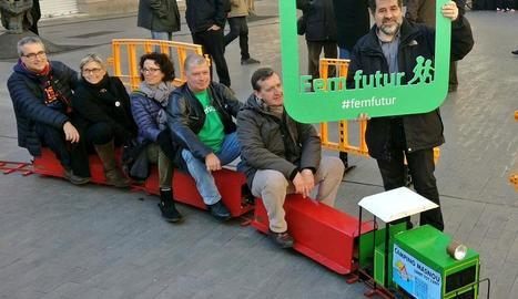 Jordi Sànchez, durant l'acte d'ahir de l'ANC a Sant Feliu de Llobregat.