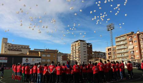 Homenaje del Balaguer a Yerai
