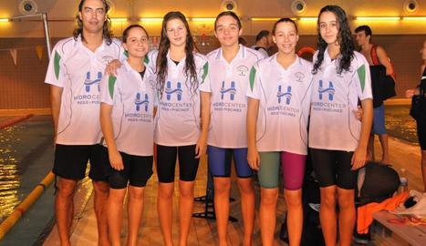 Representants del CEN Balaguer a la competició de Tàrrega.