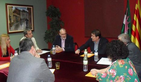 La reunió que es va fer ahir a Almacelles.