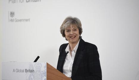 May, ahir a Lancaster House, anunciant el pla del Brexit.