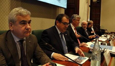 Jordi Jané, ahir a la presentació dels comptes de la conselleria d'Interior.