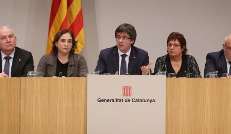 La presentació del conveni contra la pobresa energètica.