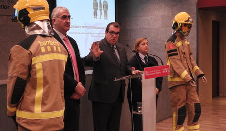 L'acte de presentació del nou equipament dels Mossos d'Esquadra.