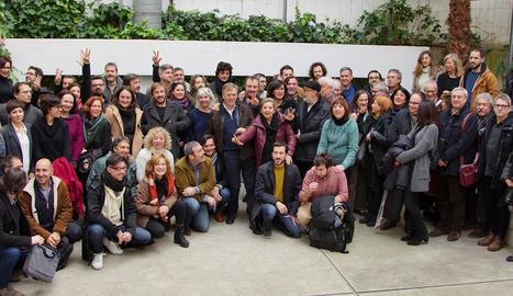 El sector audiovisual va presentar ahir el manifest 'Més TV3'.