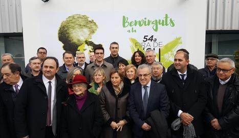 Carme Forcadell, aquest divendres a Les Borges Blanques.