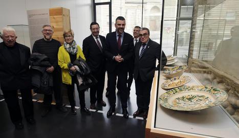 La visita d'aquest divendres al Museu de Lleida.