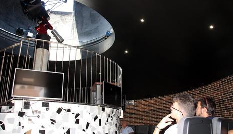 Visita d'estudiants a l'observatori de l'univers d'Àger.