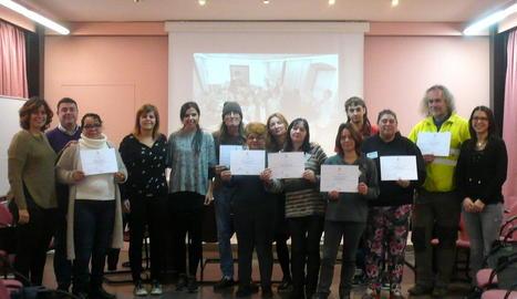 Els participants en la iniciativa social del consell.