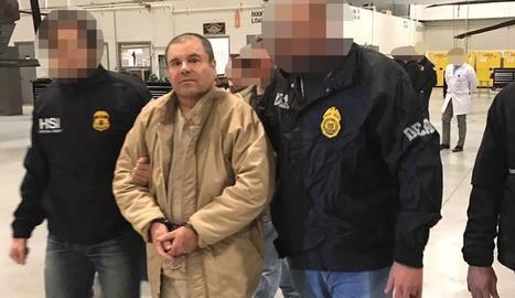 Joaquín 'El Chapo' Guzmán, a l'arribar a Nova York.