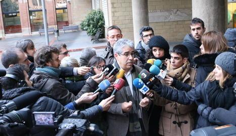 El portaveu del PDeCAT al Congrés dels Diputats, Francesc Homs, ahir a Barcelona.
