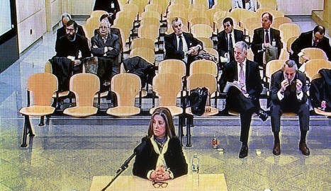 Rosalía Iglesias, ahir a l'Audiència Nacional.