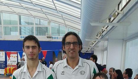 David Cortés, David Bach i Iker Ruiz, del CEN Balaguer.