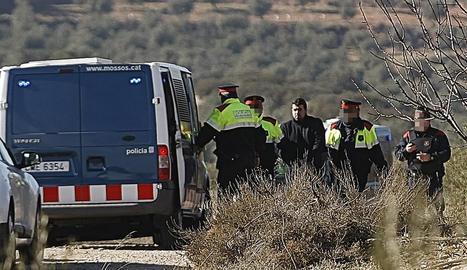 L'homicida, Ismael Rodríguez Clemente, dilluns durant la reconstrucció del doble crim a Aspa.