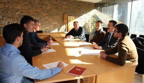 Reunió de membres del consell amb tècnics de l'ACR.