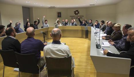 Un moment de la sessió plenària celebrada dimecres.