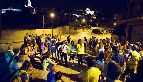 Visita nocturna a Cervera durant el mes d'agost.