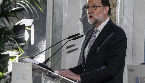 El president del Govern, Mariano Rajoy, en un acte a Madrid.