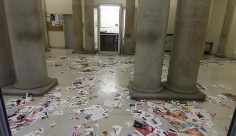 La seu dels serveis socials a l'antiga Audiència dimecres passat després d'una protesta de la PAH.