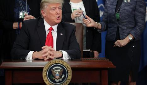 Imatge del president nord-americà, Donald J. Trump.