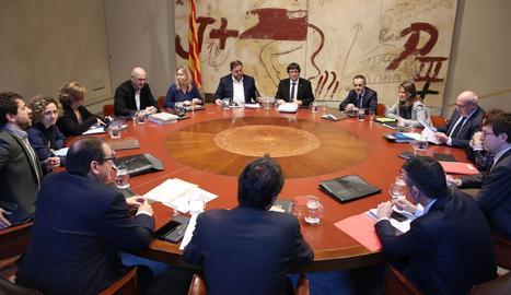 La reunió del consell executiu del Govern.