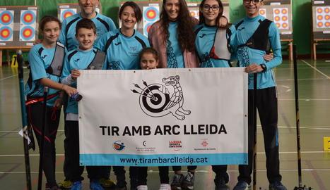 El Tir amb Arc Lleida va participar amb vuit arquers al Català.