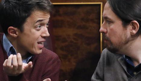 Moment de la discussió entre Errejón i Iglesias.