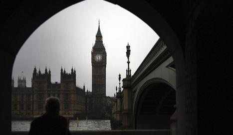 Imatge d'arxiu de l'exterior del Parlament britànic.