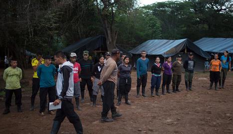 Guerrillers de les FARC en un dels campaments a la jungla.