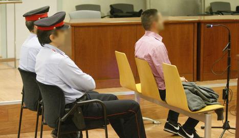 L'acusat, aquest dimecres als jutjats de Lleida.
