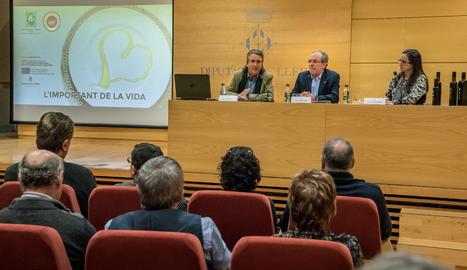 La presentació de l'espot de la DOP Garrigues.