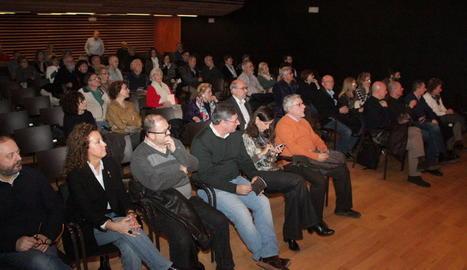 """Debat sobre """"Cultura i compromís"""", ahir a l'Espai Orfeó."""