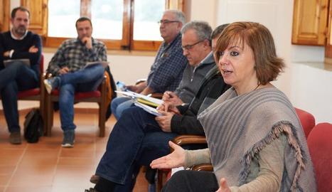 La consellera de Governació, Meritxell Borràs, aquest dijous al Monestir de les Avellanes.