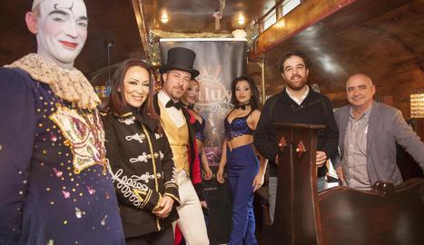 El regidor de Cultura, Raül Palacios, va donar la benvinguda al circ.