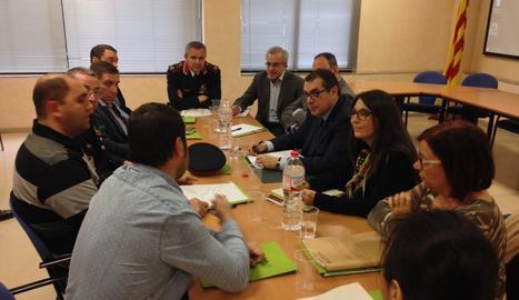 La reunió de Jané amb els alcaldes de les Garrigues.