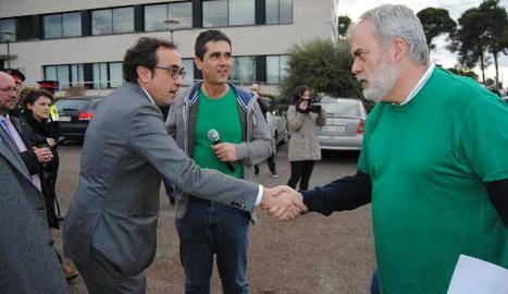 Josep Rull va assistir al consell de les Garrigues a una reunió amb els alcaldes.