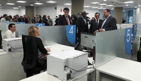 Junqueras va inaugurar ahir una seu de l'Agència Tributària a Barcelona.