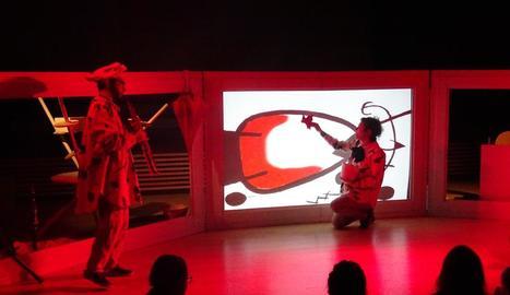 Un moment de l'espectacle 'Pintamúsica' a l'Orfeó Lleidatà.
