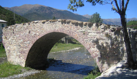Imatge del pont Vell de Vilaller.