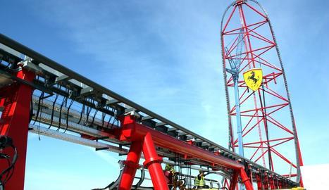 L'accelerador de velocitat que s'instal·larà a Ferrari Land.