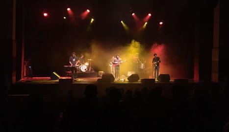 Un moment del concert de Joan Colomo dissabte a Balaguer.
