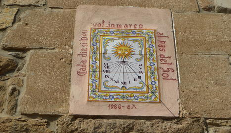 Rellotge de sol al poble de Torrefeta i Florejacs
