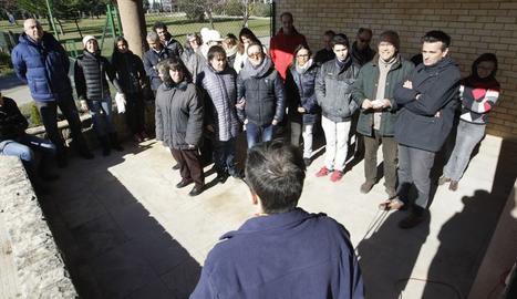 Concentracio pels imputats pel 9N davant de l'INEFC Lleidas.