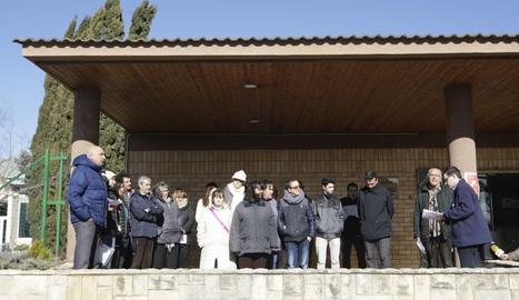 Concentració pels imputats pel 9 N davant de l'INEFC Lleida