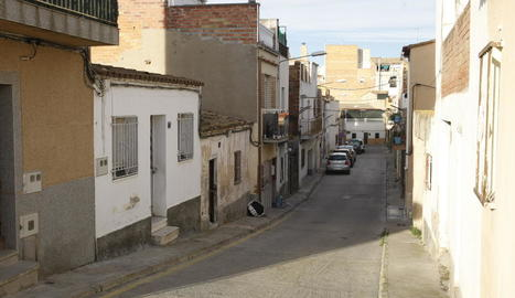 El carrer Sant Francesc Xavier que la Paeria reformarà en breu.