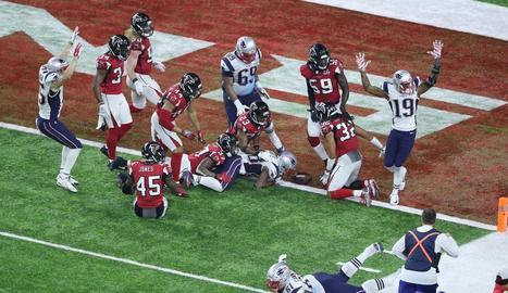 El 'touchdown'guanyador amb què els Patriots es van adjudicar la Super Bowl de futbol americà.