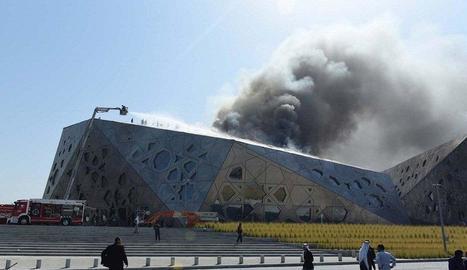La nova Òpera de Kuwait s'incendia