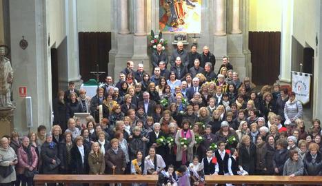 L'Associació de Dones La Ginesta de Claravalls es va reunir dissabte per celebrar els deu anys d'existència amb motiu de Santa Àgueda.