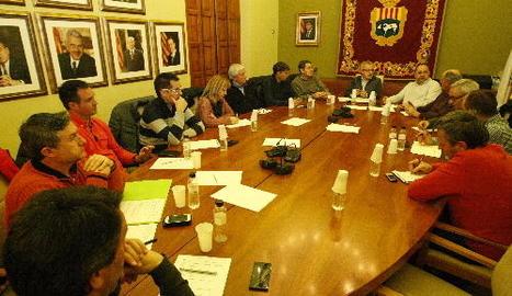 La reunió de la plataforma ahir a les Borges Blanques.
